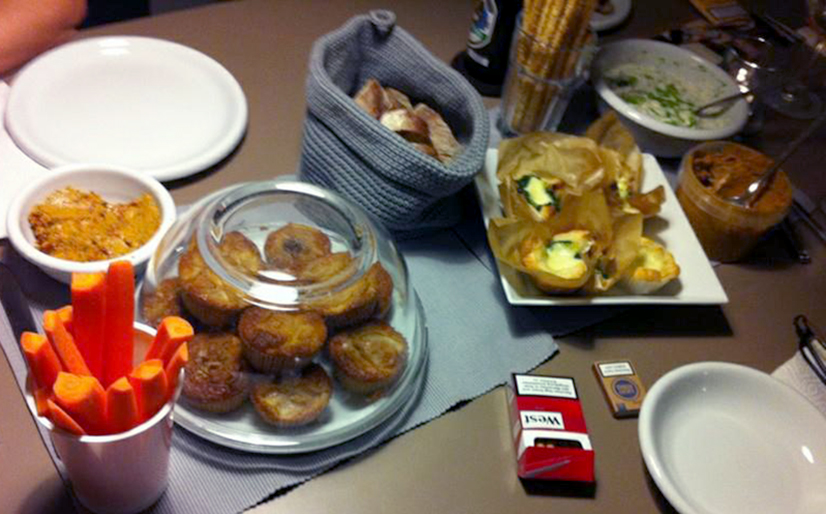 Mini Quiches, Muffins, Free style getrocknete Tomatendip: Creative Cooking 101